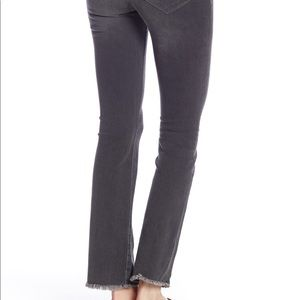 NWT Free People Straight Raw Hem Cropped Jeans